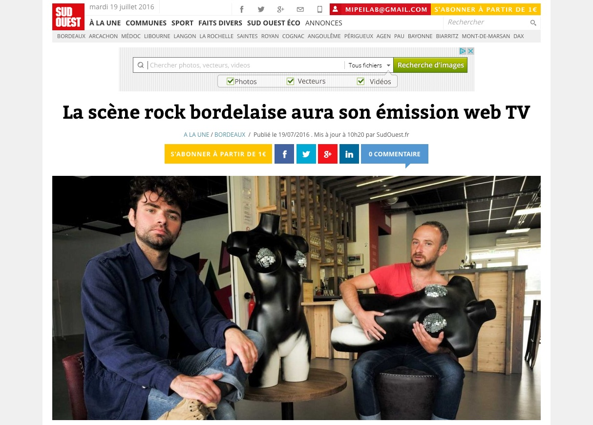 OntheOn the rocks, la nouvelle émission musicale de Bordeaux métropolerocks-music-tv-bordeaux-Sudouest